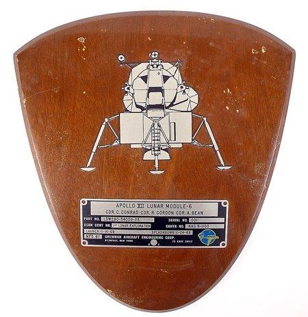 439: Apollo 12, 1969, FLOWN Lunar Module ID Plate