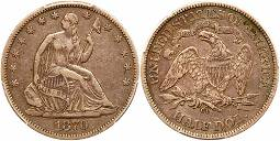 1870-CC Liberty Seated Half Dollar. PCGS VF35