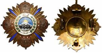 Iran. Very Rare Order of Pahlavi, Collar Set:. VF