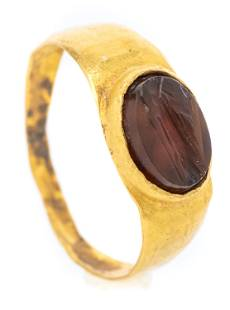 Ancient Roman Ring 1st-3rd Century Agate with Portrait