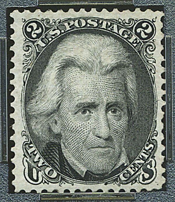 2: 1875 Re-issue of 1861-67 issue, 2c black