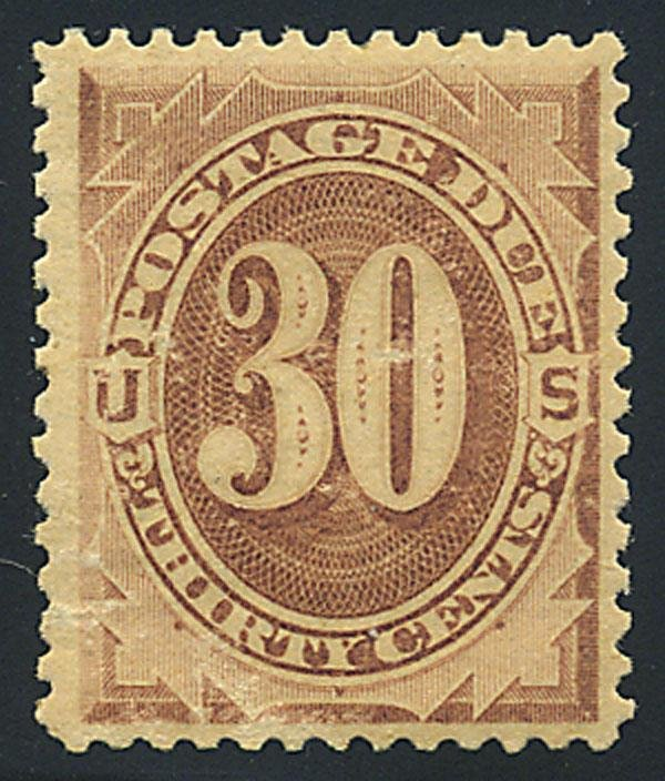 4: Postage Due, 1879, 30c brown. VF