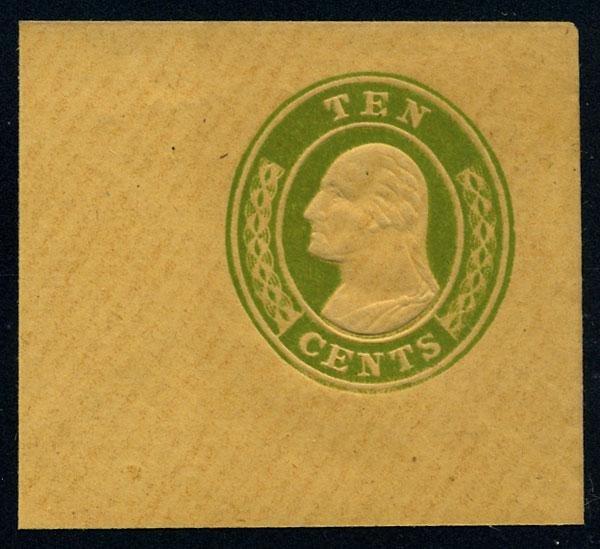 8: Envelope, 1855, 10c green on buff, die 1, 10c green,