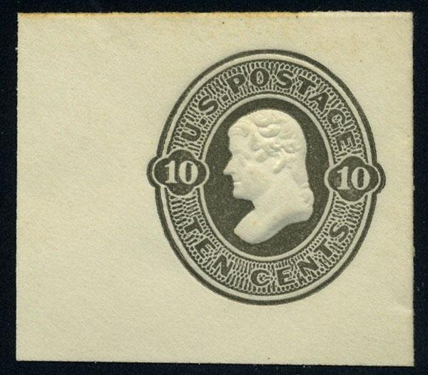 18: Envelope, 1870, 10c olive black. XF-Sup