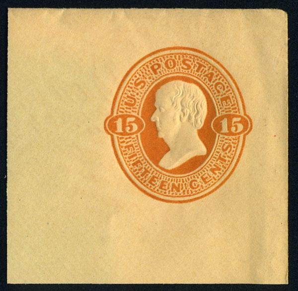 20: Envelope, 1870, 15c shades. VF-XF
