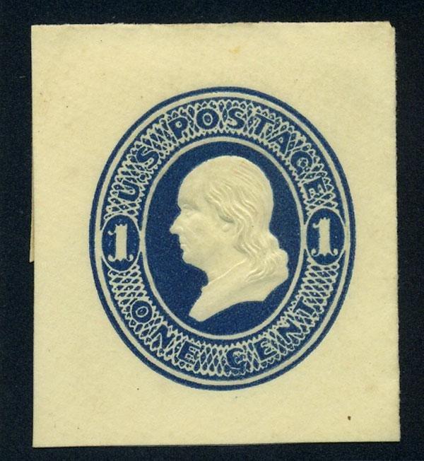 24: Envelope, 1874, 1c dark blue, die 1 and 1c dark blu