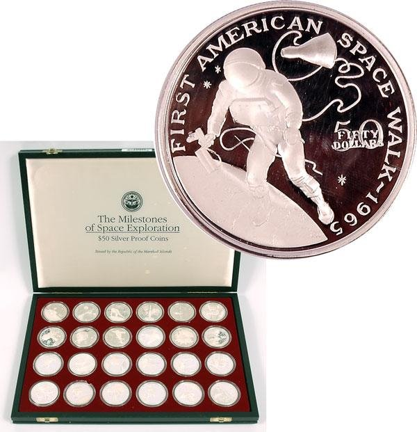 578: Set of 24 One Ounce Silver Proof Coins