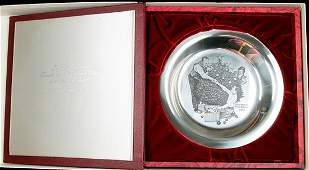650: Sterling Silver Plate: The 1973 Franklin Mint Chri