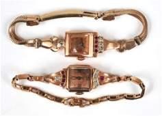 920 Collection of Ladys Retro 14K Rose Gold Wristwat