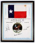 1180: Apollo 11, 1969, FLOWN Texas State Flag