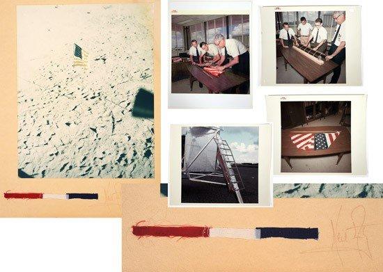 1209: Apollo 11, 1969, Lunar Flag Unflown Remnants