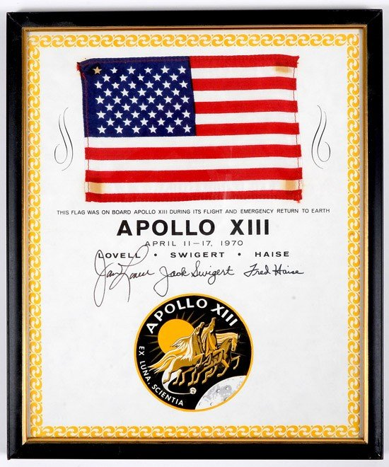 1234: Apollo 13, 1970, FLOWN US Flag