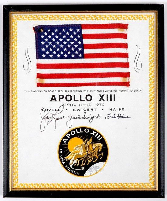 1234: Apollo 13, 1970, FLOWN US Flag