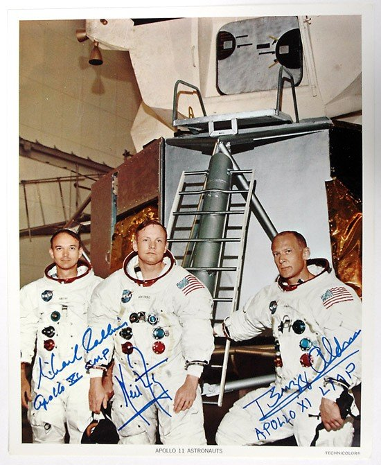 464: Apollo 11, 1969, Crew-Signed NASA Lithograph