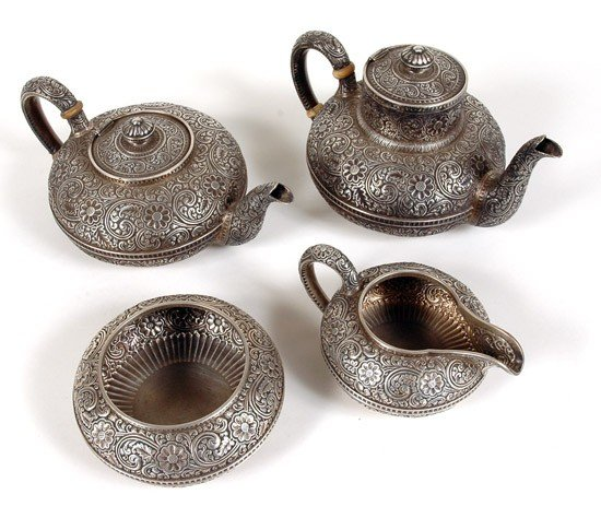 663: 4 Piece Gorham Sterling Tea and Coffee Set