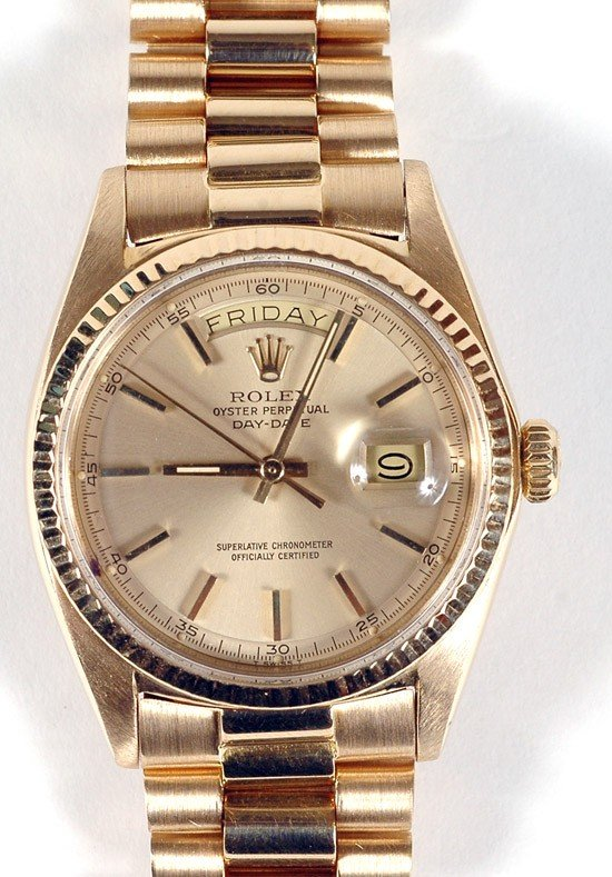 716: Rolex Oyster Perpetual Day-Date 18K Yellow Gold Wr