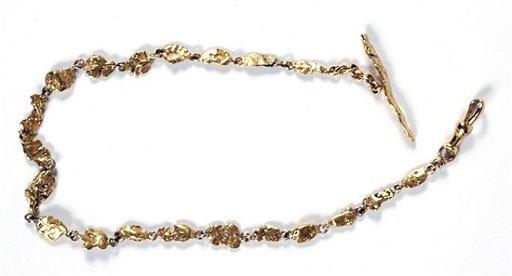 a8775ba5d3a 819: Gold Nugget Pocket Watch Chain
