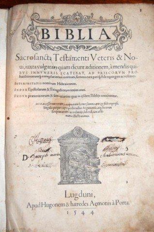 90: 1544 Holbein Bible w/ Inquistior's Translation