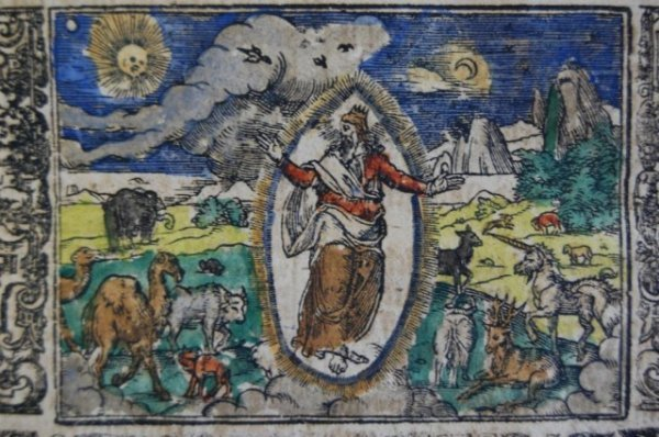 98: 1715 Martin Luther Bible, Hand Colored Engravings