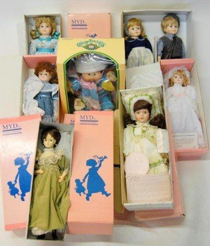 1: 11 Marian Yu Designs Dolls, 1 Cabbage Patch NIB