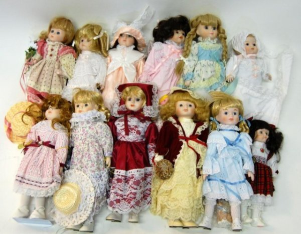 2: 12 Brinn Porcelain  Dolls