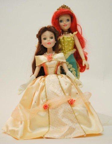 3: Porcelain Disney Collector's Dolls, Belle &Ariele