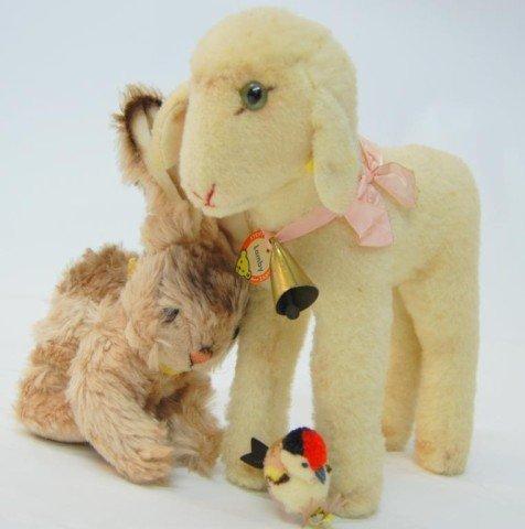 9: Steiff Lamby, Rabbit, & Songbird