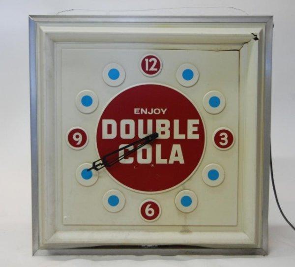13: Vintage Double Cola Electric  Clock-damage