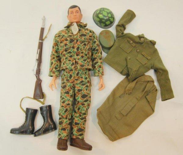 16: 1960s Marine GI Joe w accessories