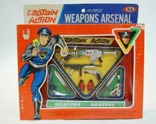 19: 1967 Captain Action Weapons Arsenal NIB/Plastic