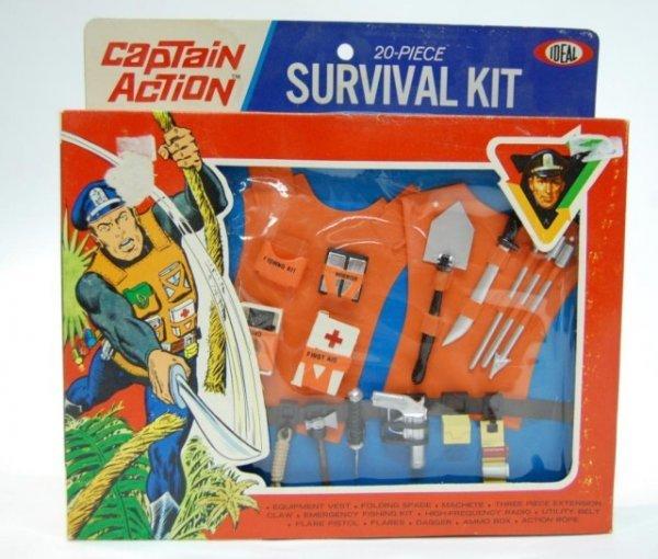 20: 1967 Captain Action Survival Kit NIB/Plastic
