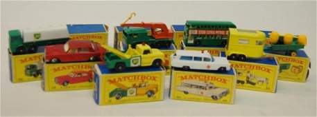 27: 8 1960's  Matchbox  Cars w/ Boxes