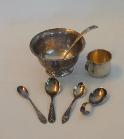 2: Sterling Silver inc. S. Kirk & Sons Bowl and Spoon