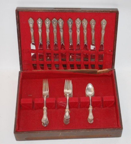 3: Alvin Sterling Silver Flatware Chateau Rose""""