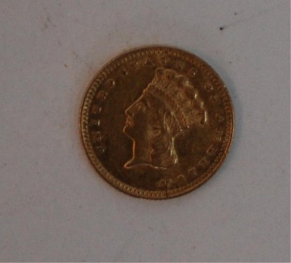 8: Gold $1 1861 U.S. Coin