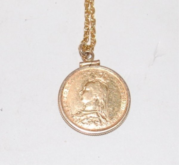 13: 1892 Gold British Full Sovereign -on Chain