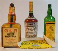 136: 3 Large Vintage Glass Liquor Store Display Bottles