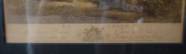 200: La Chasse, 19th C Hand Tinted Engraving - 2