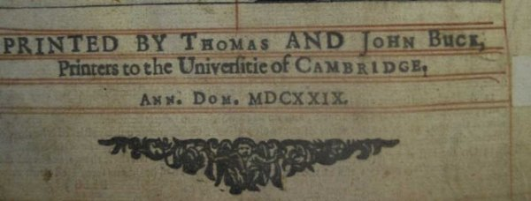 150:  First Edition 1629 Cambridge  Bible in English