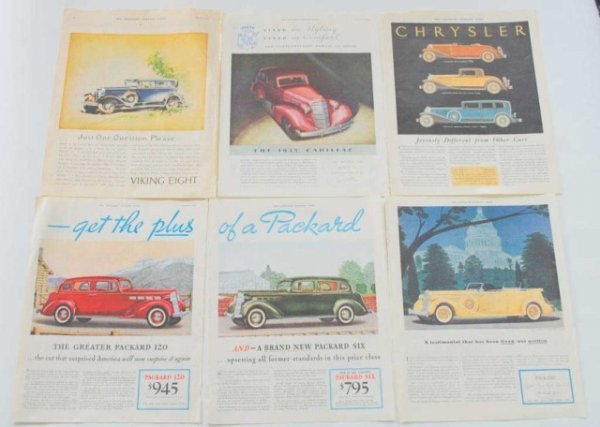 12: Group of 1930's-40's Automobile Ads