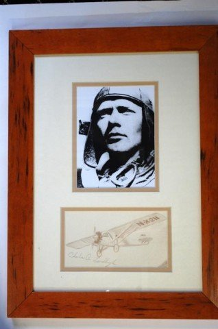 15: Charles Lindbergh Cut Autograph  and Picture