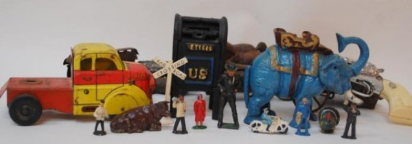 4: Toys, US Mail Bank, Elephant Bank, R.R. Figures