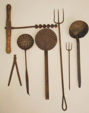 7: 7  Iron Antique Utensils/Tools