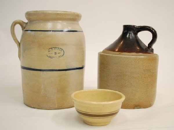 19: WD Suggs  Miss. No 3 Jug with Cobalt and Jug