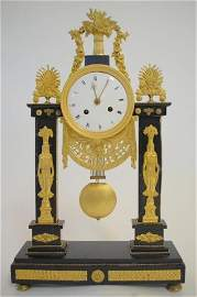 96: French  Portico Clock circa 1810