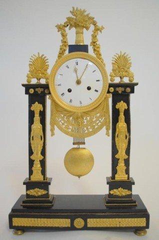 96: French  Portico Clock circa 1810