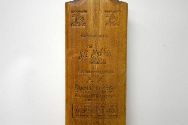 10: Donald Bradman/ J.R. Hobbs Autographed Cricket Bat - 3