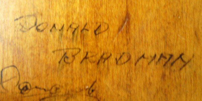 10: Donald Bradman/ J.R. Hobbs Autographed Cricket Bat - 5