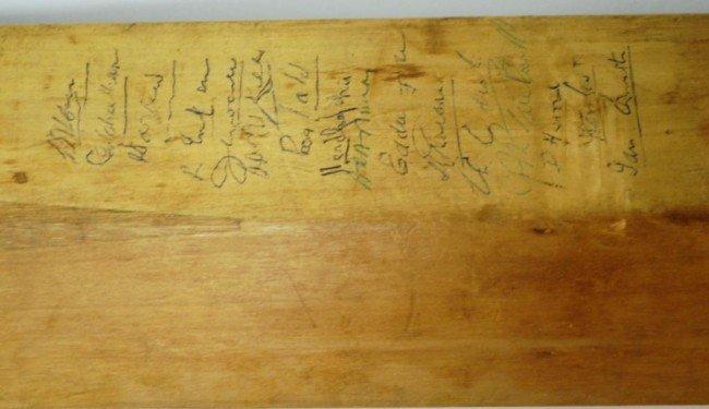10: Donald Bradman/ J.R. Hobbs Autographed Cricket Bat - 7