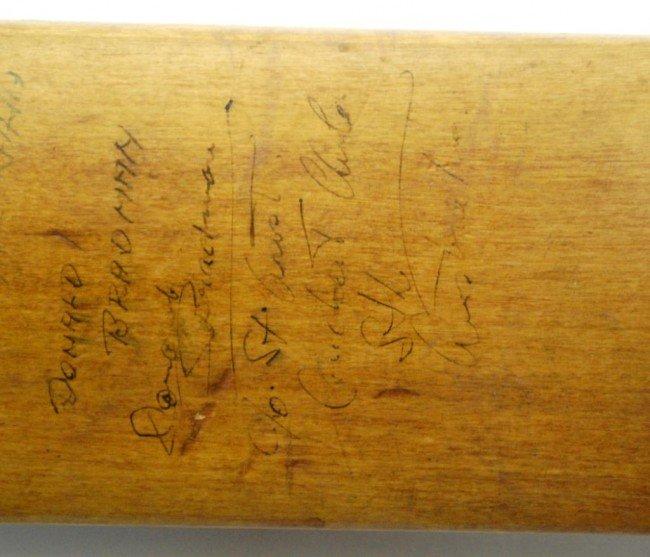 10: Donald Bradman/ J.R. Hobbs Autographed Cricket Bat - 8